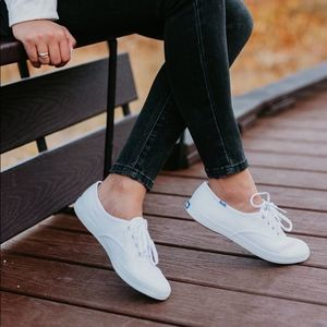 NWB Keds White Champion Canvas Lace Up Sneakers